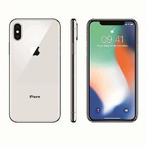 """iPhone X Apple com 64GB, Tela Retina HD de 5,8"""", iOS 11, Dupla Câmera Traseira, Resistente à Água e Reconhecimento Facial - Prateado"""