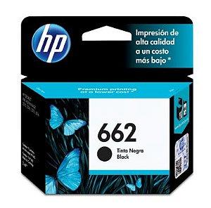 CARTUCHO ORIGINAL HP 662 PRETO 2 ML -  HP DESKJET 1516  2516  2546  2646  3516  3546  4646