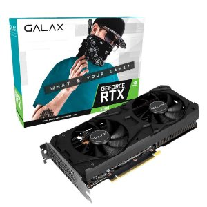 Placa de Vídeo GALAX GeForce RTX 3060 (1-Click OC), 15 Gbps, 12GB GDDR6, Ray Tracing, DLSS - 36NOL7MD1VOC