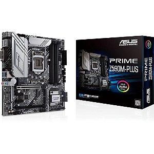 Placa Mãe Asus PRIME Z590M-PLUS, Intel Z590 LGA1200, mATX, DDR4 - 90MB1690-M0EAY0