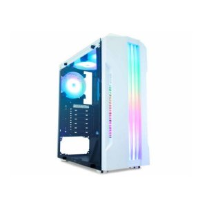 GABINETE GAMING BIFROST WHITE LED RGB CG-XXQI K-MEX