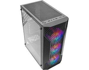 Gabinete Gamer K-mex CG-A1Z5 Boreas3 Painel Mesh Com 3 Fans