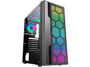 Gabinete Gamer k-mex Multiverso CG-02TT - RGB ATX Preto