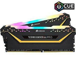 Memória Corsair Vengeance RGB, 16GB (2x8GB), 3200MHz, DDR4, CL16 - CMW16GX4M2C3200C16