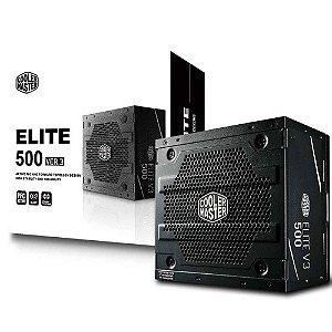 Fonte Cooler Master 500w, Elite V3 - Mpw-5001-acaan1