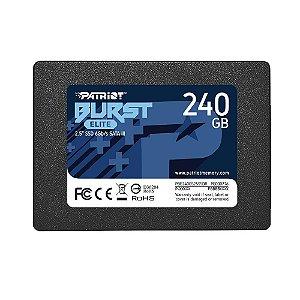 SSD Patriot Burst Elite 240GB, 2.5´, SATA III, Leitura: 450MB/s e Gravação: 320MB/s - PBE240GS25SSDR