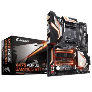 PLACA MÃE GIGABYTE X470 AORUS GAMING 5 WIFI SOCKET AM4, CHIPSET AMD X470