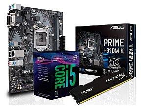 Kit Processador Core I5 8400 + H310M-K Asus + 8GB Hyperx Fury DDR4