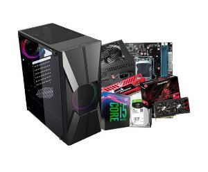 PC Gamer Líder Top, Core I5, 8gb, Ssd 120, RX 570 4GB, Hd 1tb, 600w 80p