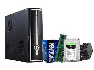 PC Home Líder Basic, Pentium G5400, 4GB, Hd 1TB, 500w, Gabinete Slim, Wi-Fi USB