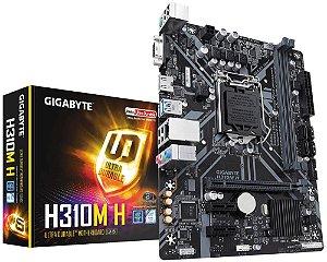 Placa Mãe Gigabyte H310M H, Intel LGA 1151, mATX, DDR4