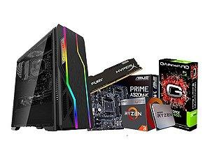 PC Gamer Líder Médio, Ryzen 3 2200G, A320M Asus, 8GB, HD 1TB, GTX 1050 TI 4GB, 500W,