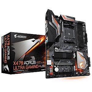 Placa-Mãe GIGABYTE p/ AMD AM4 ATX X470 AORUS ULTRA GAMING DDR4