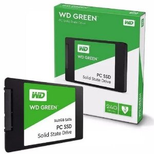 SSD WD Green 240GB, Sata III, Leitura 540MBs e Gravação 465MBs, WDS240G2G0A