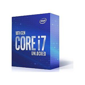Processador Intel Core i7 10700K, 3.80GHz (5.10GHz Turbo), 10ª Geração, 8-Cores 16-Threads, LGA 1200