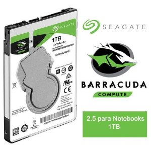 "HD SEAGATE BARRACUDA 1TB 2.5"" NOTEBOOK SATA III"