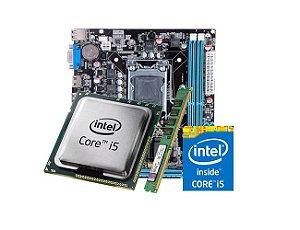 Kit Processador I5 3470, 4GB DDR3 KVR, Placa Mãe H61M Foxconn