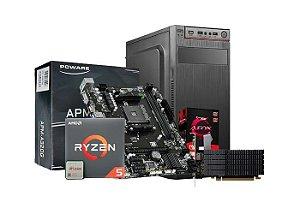 PC LIDER MÉDIO - Ryzen 5 2600 6 Cores, A320M, 8GB DDR4, SSD 120GB, HD 1TB, 500w Real, R5 220 2GB, Gabinete ATX