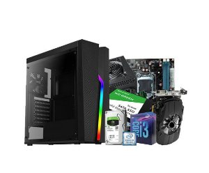 PC Gamer Líder Top, Core I3 9º, 16gb, SSD 240G, HD 1TB, RX 550 4GB, 500w