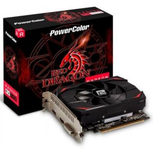 Placa de Vídeo PowerColor, Radeon, RX 550 Red Dragon, 4GB, DDR5, 128Bit, AXRX 550 4GBD5-DH
