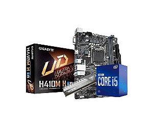 Kit Processador  i5-10400F, 8GB DDR4, Placa Mãe H410M-H Gigabyte