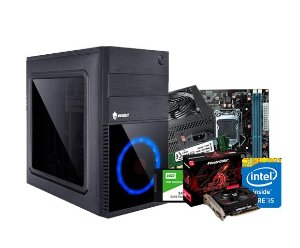 PC Gamer Lider Médio - Core i5, 8GB, HD 1TB, RX 550 4GB, 500W, GABINETE ATX