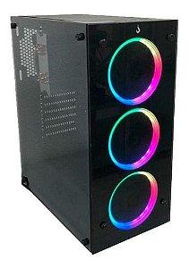 Pc Lider Home Office -Amd Athlon 3000G/A320M/8GB DDR4/Ssd 240 GB/Fonte 230W/Gabinete Atx Black