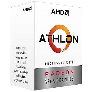 Processador AMD Athlon 3000G Two Core, Cache 5MB, 3500MHz, AM4 - YD3000C6FHBOX