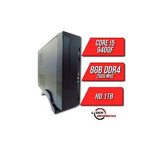 Pc Lider Home Office -CORE I5 9400F/H310/8GB DDR4/SSD 240GB/Fonte 230W/PLACA DE VIDEO 1GB/WIFI/Gabinete Atx SLIM BLACK