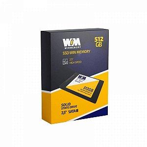 SSD WIN MEMORY 512GB SATA3 2.5 7MM SWR512G