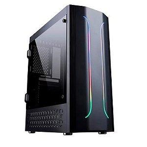 Gabinete Gamer Bluecase BG-011, Mid Tower, RGB, Lateral em Acrílico - BG011GCASE