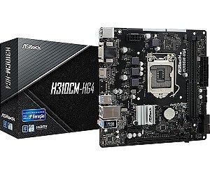 PLACA MAE ASROCK H310CM-HG4 DDR4 SOCKET LGA1151 CHIPSET INTEL H310