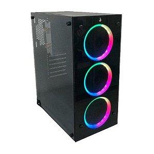 Pc Gamer Lider - A320/R5 2400G/16GB/240GB/500W/VEGA 11/GABINETE RISEMODE (NAO ACOMPANHA FANS)