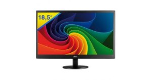 "Monitor AOC 18,5"" LED HD, Widescreen, 60Hz, VGA e HDMI"