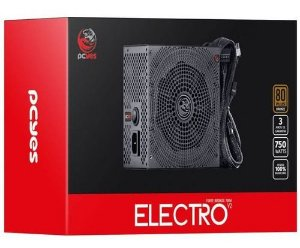 Fonte PCYES Electro V2 750W, 80 Plus Bronze, PFC Ativo, ELECV2PTO750W
