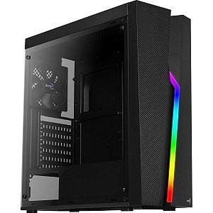 Gabinete Gamer Aerocool, Bolt RGB, Mid Tower, Acrílico, Black, 67990, Sem Fonte