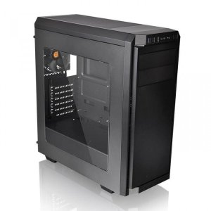 Gabinete Gamer ThermalTake V100, Mid Tower, Black, ATX, Sem Fonte, Com 1 Fan
