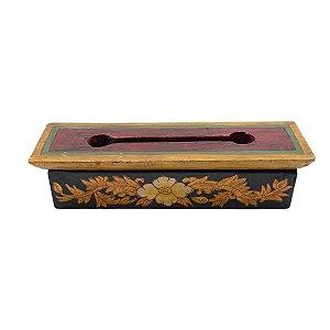 Porta-Incenso Caixinha Tibetano