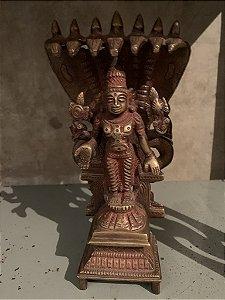 Estatueta de Vishnu embaixo de Árvores