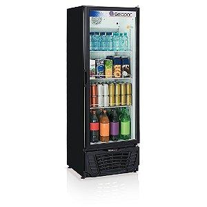 Refrigerador de bebidas vertical preto porta de vidro 414 litros GPTU-40PR Gelopar