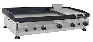 Chapa para Lanches com Prensa  em Aço Inox 1m CFGP-100 Metvisa