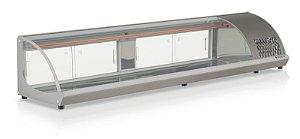 Vitrine Refrigerada de Bancada revestimento tipo inox - GVRB-210 - Gelopar