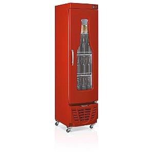 Refrigerador de bebidas cervejeira vermelho porta com vidro em garrafa 230 litros - GRBA-230VM - Gelopar
