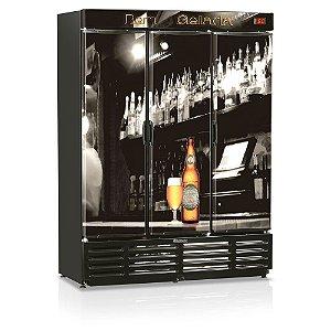 Refrigerador de bebidas cervejeira três portas 1180 litros - GRBA-1180B - Gelopar