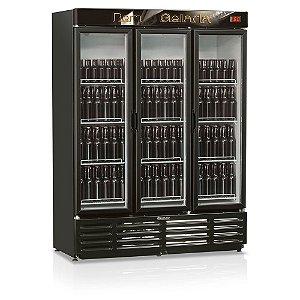 Refrigerador de Bebidas Cervejeira 3 Portas de Vidro 1180 litros GRBA-1180PV Gelopar