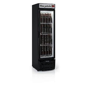 Refrigerador de bebidas cervejeira preto porta de vidro com condensador estático 290 litros - GRBA-290EVGW - Gelopar