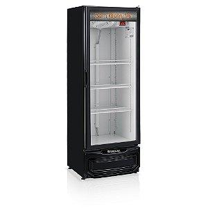 Refrigerador de bebidas preto cervejeira porta de vidro 414 litros - GRBA-400PV PR - Gelopar