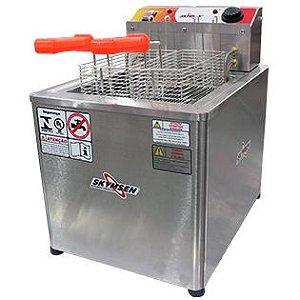Fritadeira elétrica 18 litros água e óleo inox 304 - FRM-18 - Skymsen