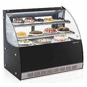 Vitrine Refrigerada Dupla Ação Linha Gourmet Elegance Bancada - GGEB-110 - Gelopar