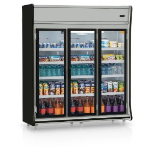 Expositor Vertical 3 portas refrigerado (Geladeira) - Gelopar - GEVP-3PPR